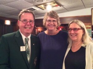 Lion District Gov. John Elvverkrog and our two incoming Lion Vice Presidents, Julie Press-Raese and Margaret Drinkwater.
