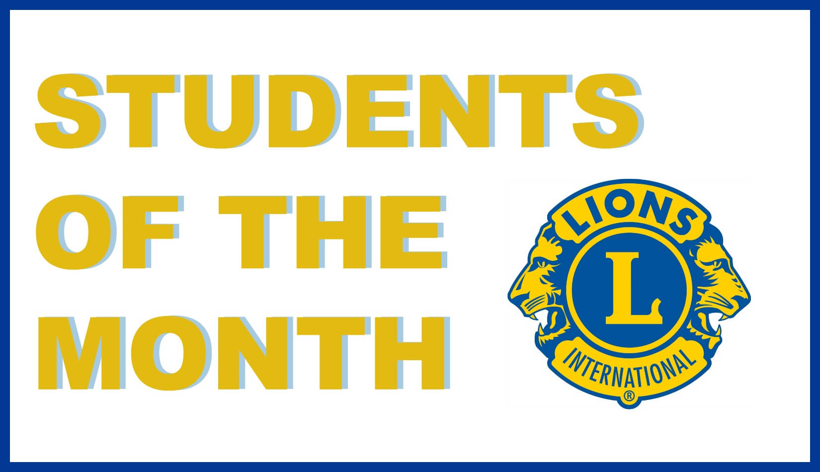 Janesville Noon Lions Club - Students of the Month